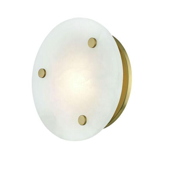 Croton Aged Brass 12-Inch LED Flush Mount, image 3