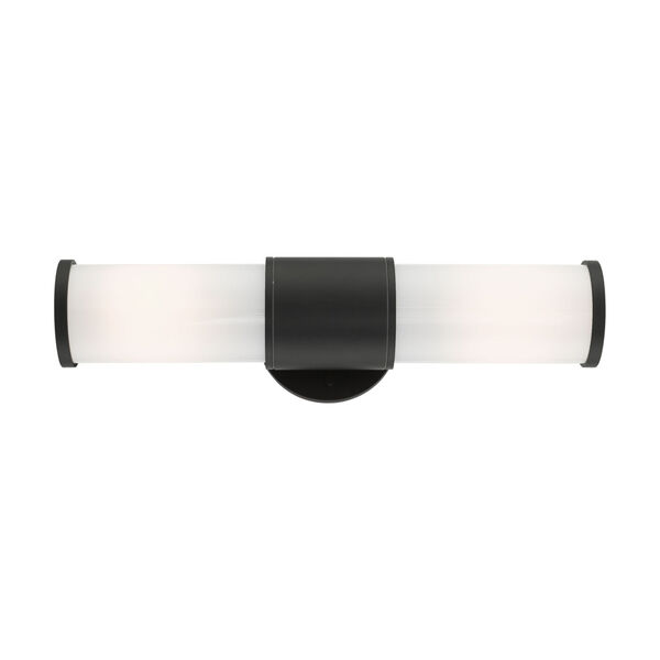 Landsdale Textured Black Two-Light Outdoor ADA Wall Sconce, image 3