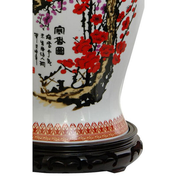 18 Inch Porcelain Temple Jar Cherry Blossom, Width - 10 Inches, image 2