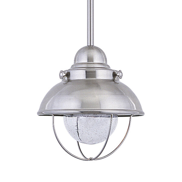 Sebring Brushed Stainless Eight-Inch LED Outdoor Pendant, image 1