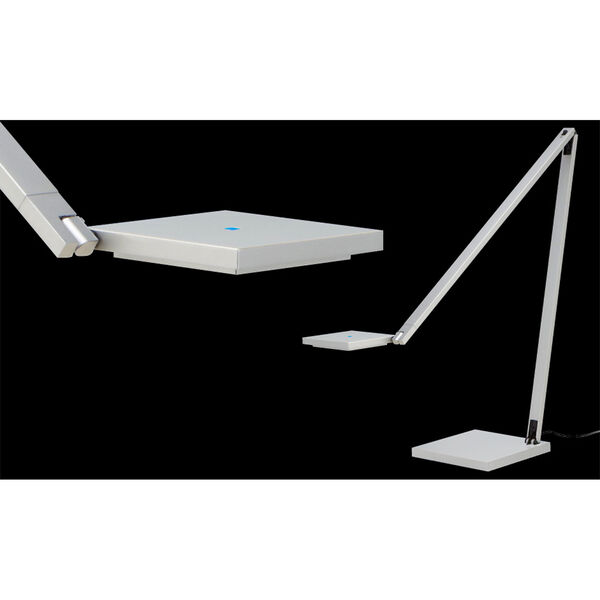Quattro Bright Satin Aluminum LED Task Lamp, image 2