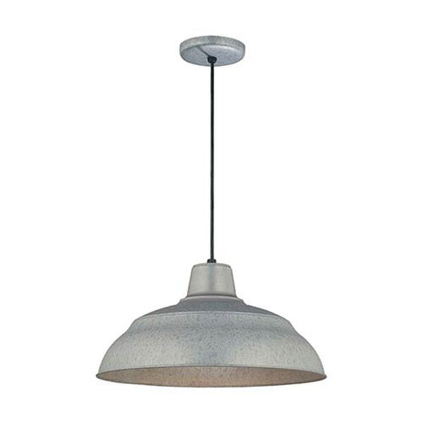 R Series Galvanized 17-Inch Warehouse Cord Hung Outdoor Pendant, image 1