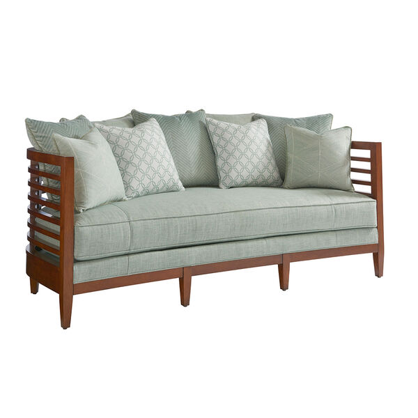 Ocean Club Brown and Green St. Lucia Sofa, image 1