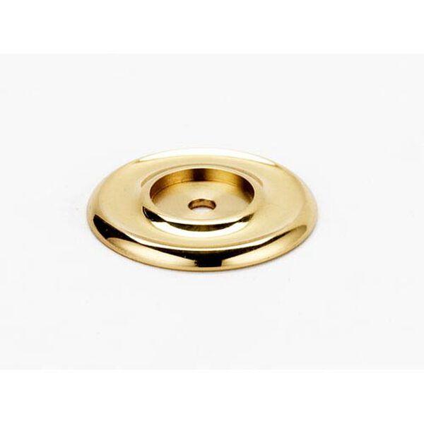 Polished Brass 1 3/4-Inch Backplate, image 1