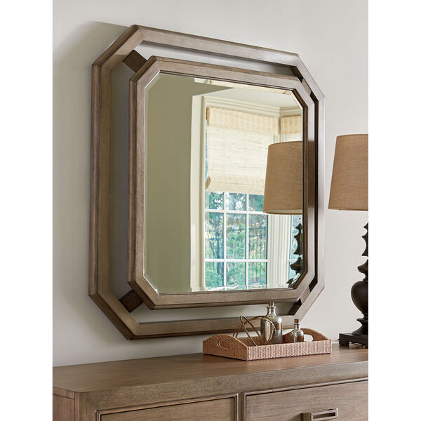Cypress Point Antique Brass Callan Square Mirror, image 2