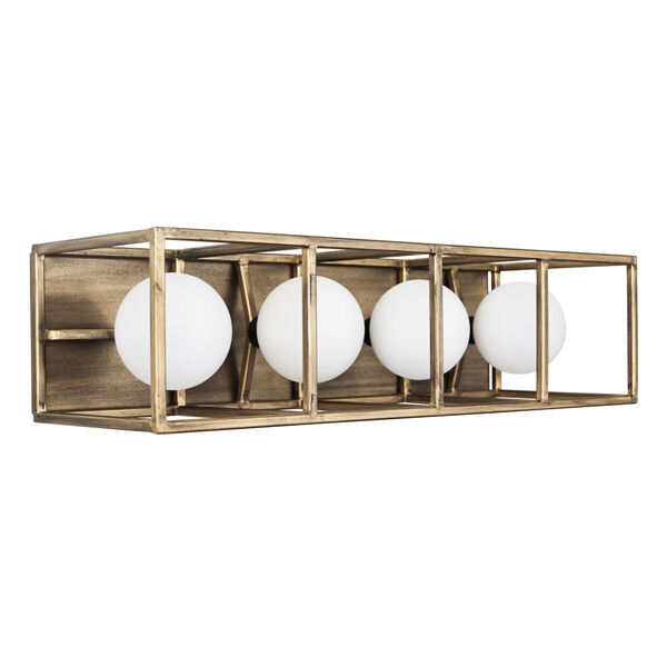 Plaza Havana Gold And Carbon Four-Light LED ADA Bath Vanity, image 4