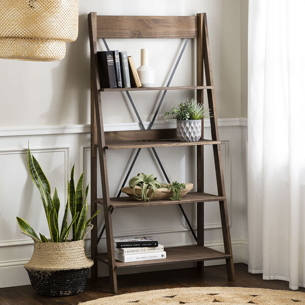 Brown 68-Inch Bookshelf, image 1