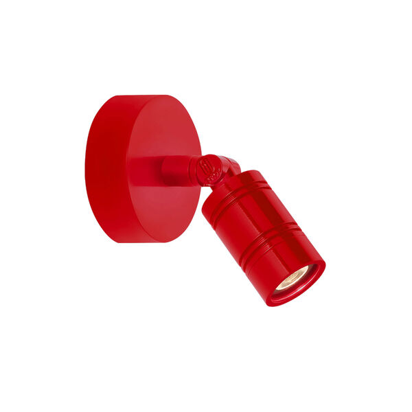 Bullet Head Red LED Outdoor Monopoint Wall Sconce, image 1
