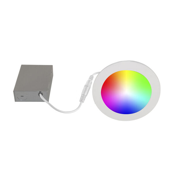 White Wi-Fi RGB LED Recessed Fixture Kit, Pack of 4, image 2