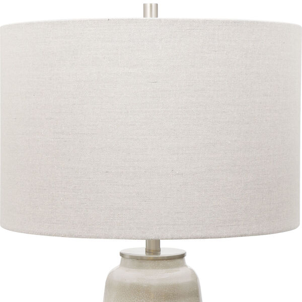 Comanche Off-White One-Light Crackle Table Lamp, image 4