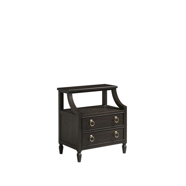 Espresso One-Drawer Wood Nightstand, image 5