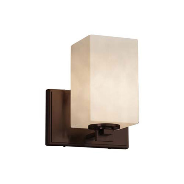 Clouds - Era Dark Bronze One-Light Wall Sconce with Square Flat Rim Clouds Shade, image 1