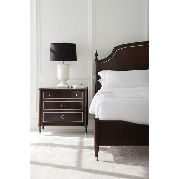 Caracole Classic Mocha Walnut and Soft Silver Paint How Suite It Is Nightstand, image 6