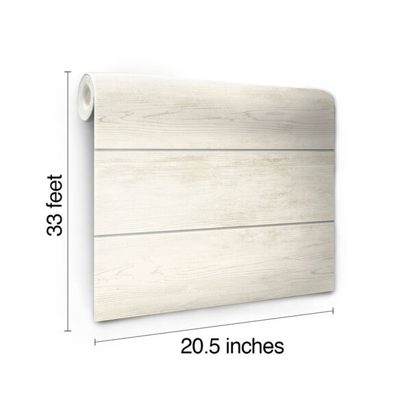Shiplap Gray and Off White Removable Wallpaper, image 8