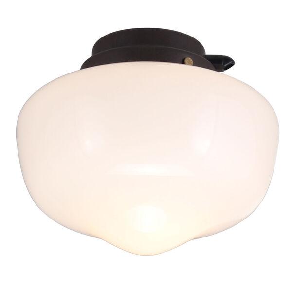 Textured Brown LED Ceiling Fan Light Kit, image 1