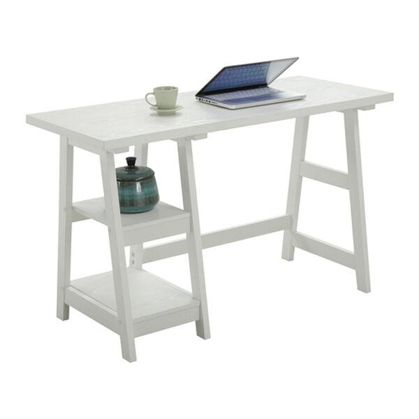 Designs2Go White Trestle Desk, image 3