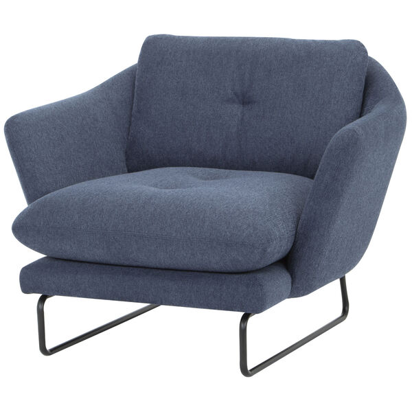 Frankie Denim and Black Occasional Chair, image 2