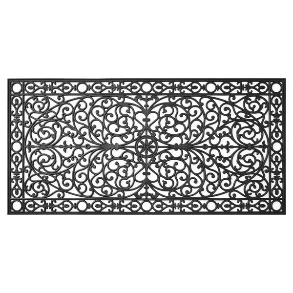 Gatsby Black 36 x 72 Inch Doormat, image 1