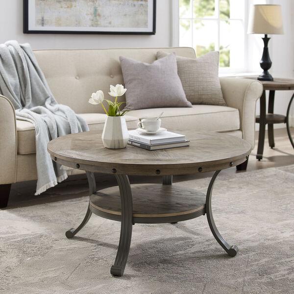 Elizabeth Pewter Round Coffee Table, image 4