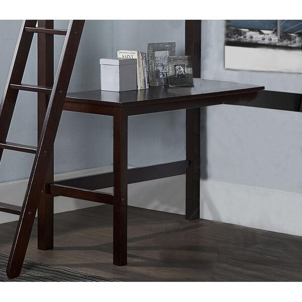 Caspian Chocolate Twin Study Loft With Chair, image 4