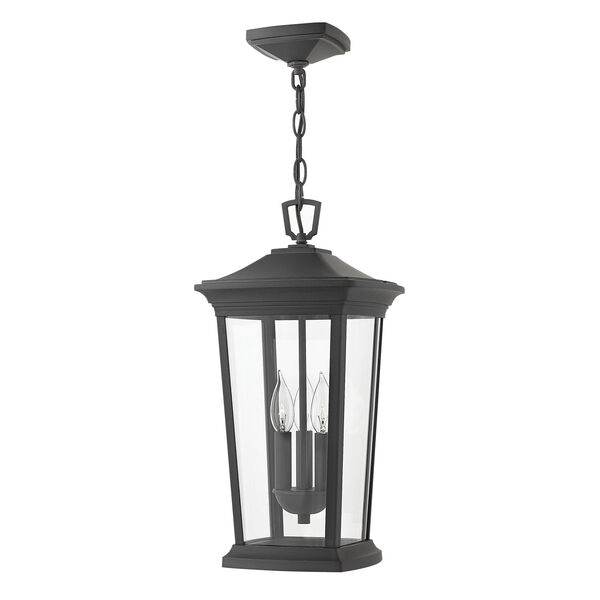 Bromley Museum Black 10-Inch Three-Light Outdoor Hanging Pendant, image 1