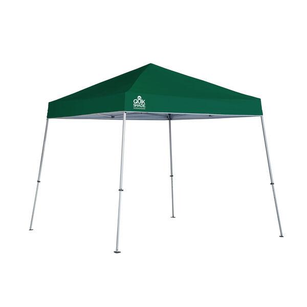 Green Silver 10 x 10 Slant Leg Pop-Up Canopy, image 1