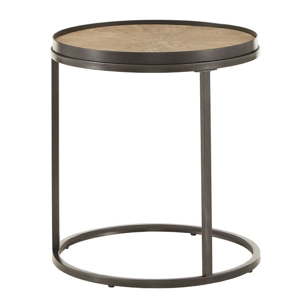 Cliff Gray Oak Round End Table, image 3