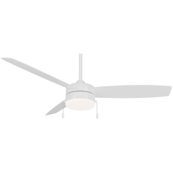 Airetor III Flat White 54-Inch LED Ceiling Fan, image 1