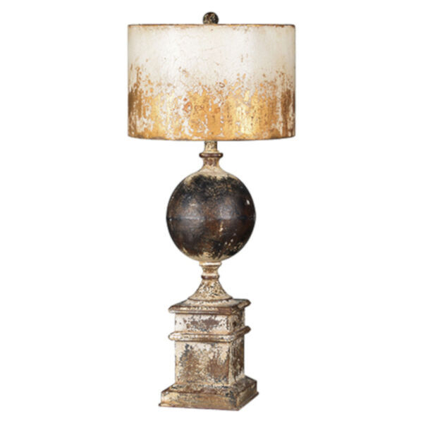 Partridge Black and Antique White One-Light Table Lamp, image 1