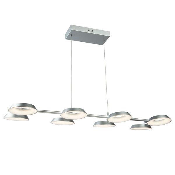 Leith Silver LED Island Pendant, image 1