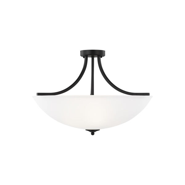 Geary Midnight Black Four-Light Semi-Flush Convertible Pendant, image 1
