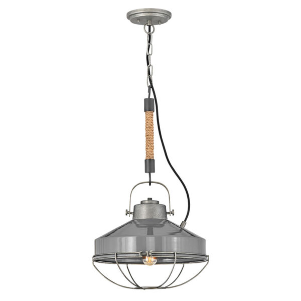 Brooklyn Rustic Pewter 14-Inch One-Light Pendant, image 1