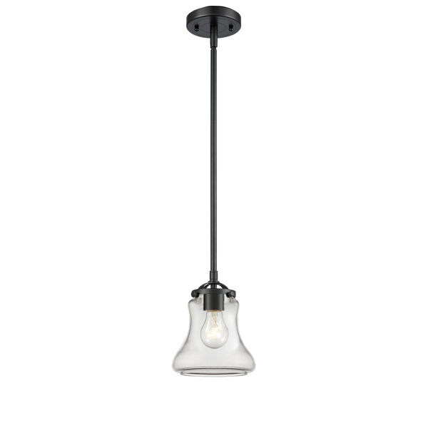 Nouveau Oil Rubbed Bronze Six-Inch One-Light Mini Pendant with Clear Bellmont Shade, image 1