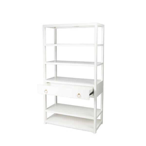 Lark White 39-Inch Rectangular Bookshelf, image 2