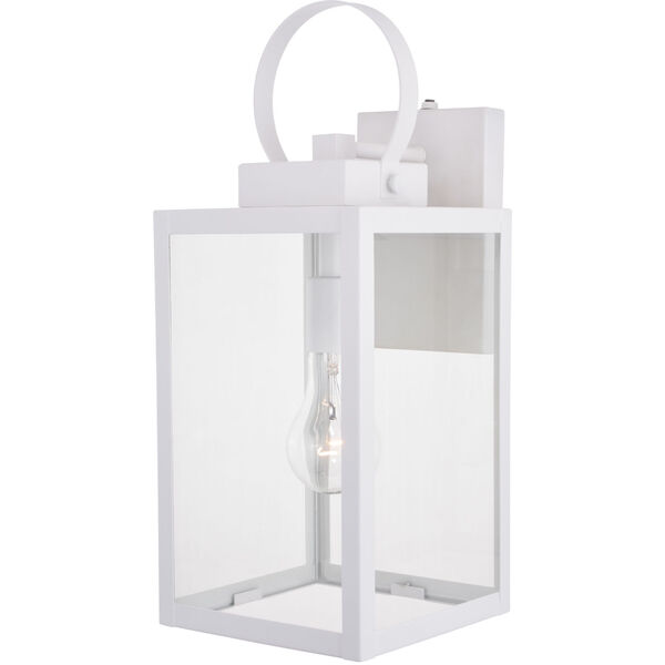 Medinah Textured White One-Light Outdoor Wall Sconce, image 1