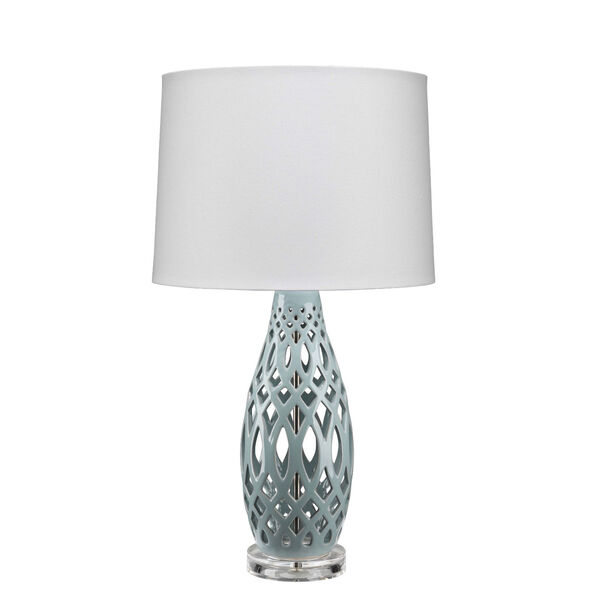 Cora Pale Blue and White One-Light Table Lamp, image 1