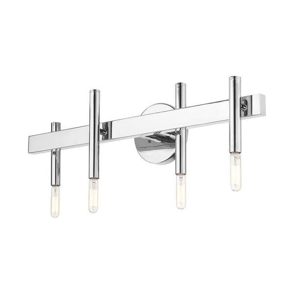 Denmark Polished Chrome Four-Light Bath Vanity, image 6