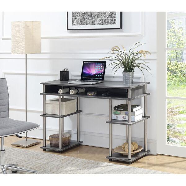 Designs2Go Charcoal Gray No Tools Student Desk, image 2
