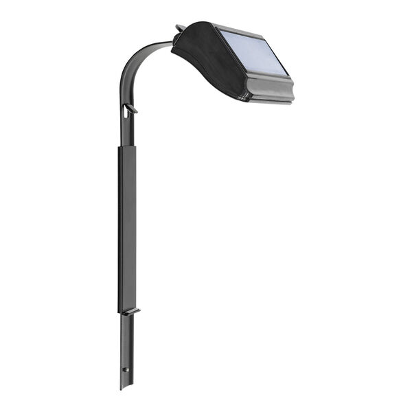 Black Solar Lamp with Extender Lawn Standard and Estate Lawn, image 1