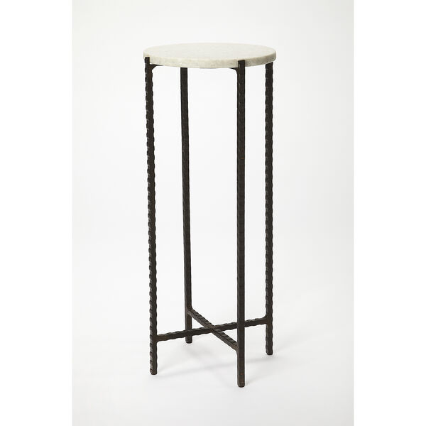 Butler Loft Marble and Metal Nigella Round Accent Table, image 3