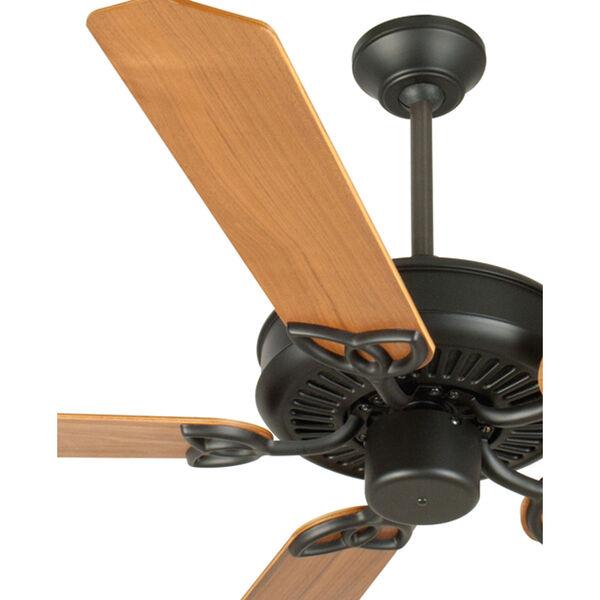 CXL Flat Black Ceiling Fan with 52-Inch Custom Wood Walnut Blades, image 2