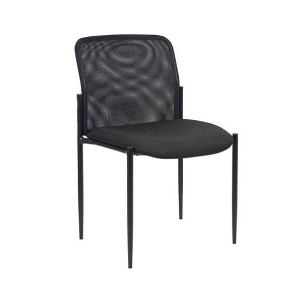 Stackable Armless Mesh Guest Chair, image 1