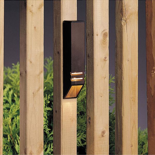 Textured Architectural Bronze 6-Inch One-Light Landscape Deck Rail Light, image 1
