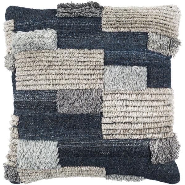 Baracoa Dark Blue and Medium Gray 22-Inch Pillow , image 1