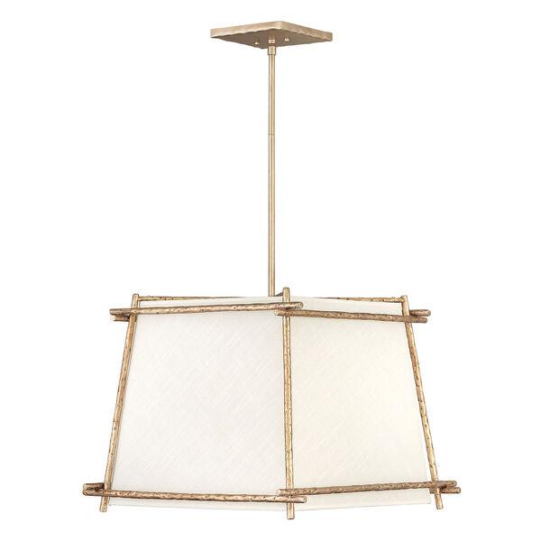 Tress Champagne Gold Four-Light Pendant, image 1