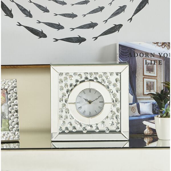Sparkle Crystal 10-Inch Square Table clock, image 2