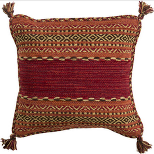 Trenza Cherry 20-Inch Pillow with Poly Fill, image 1
