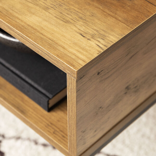 Jean Barnwood and Black Coffee Table with One Drawer, image 4