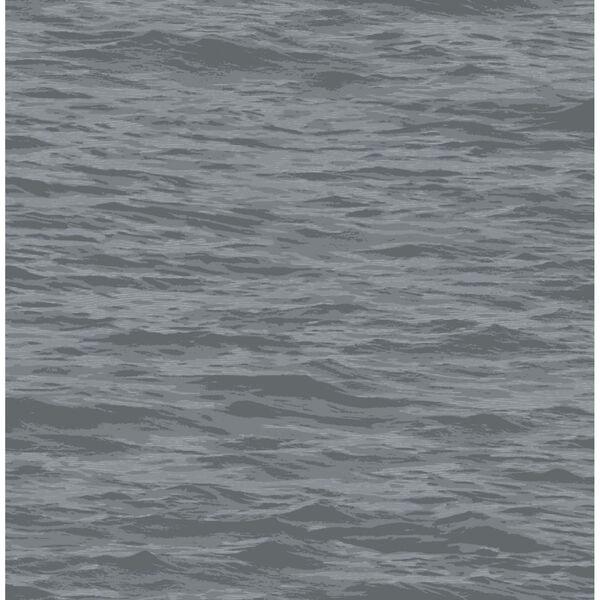 NextWall Gray Serene Sea Peel and Stick Wallpaper, image 2