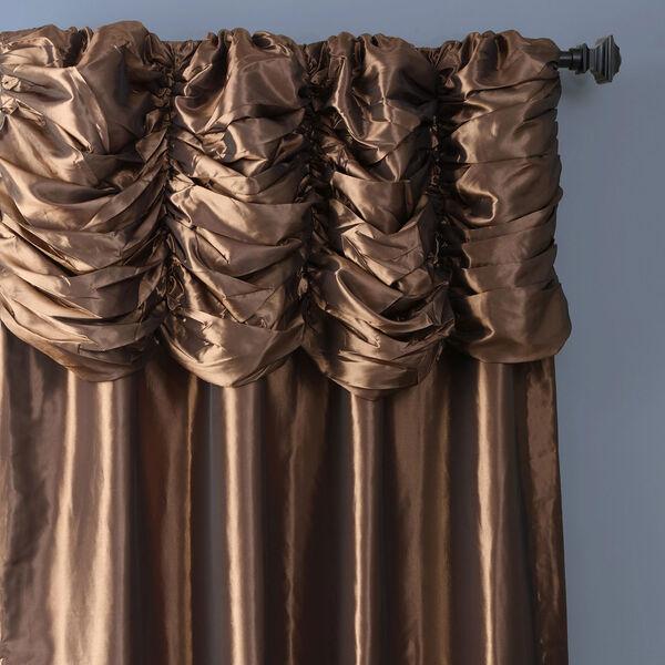 Ruched Mushroom 84 x 50-Inch Faux Silk Taffeta Curtain Single Panel, image 3